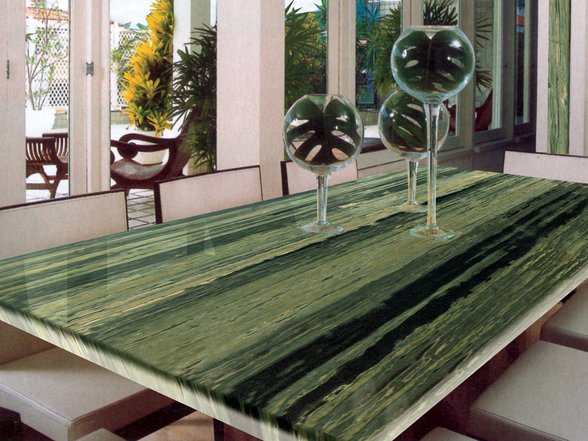 Verde-Bamboo-Granite-Kitchen-Island-Finished-Installed-Granix