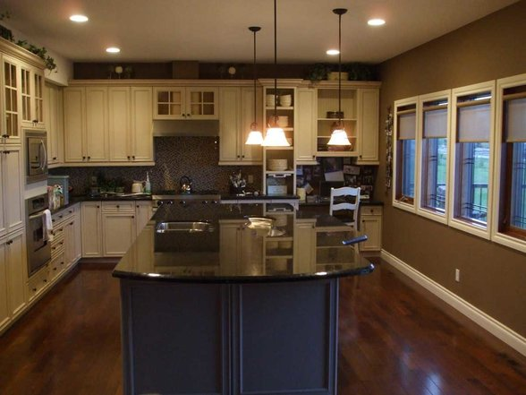 amazing-brown-pearl-granite-kitchen-countertop